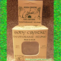 Body Crystal Deodorant Stone made in USA 100% Pure